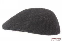 Preshaped flatcap Formen dark grey 57