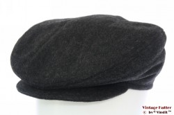 Flatcap dark grey wool with earwarmer 58 [new]