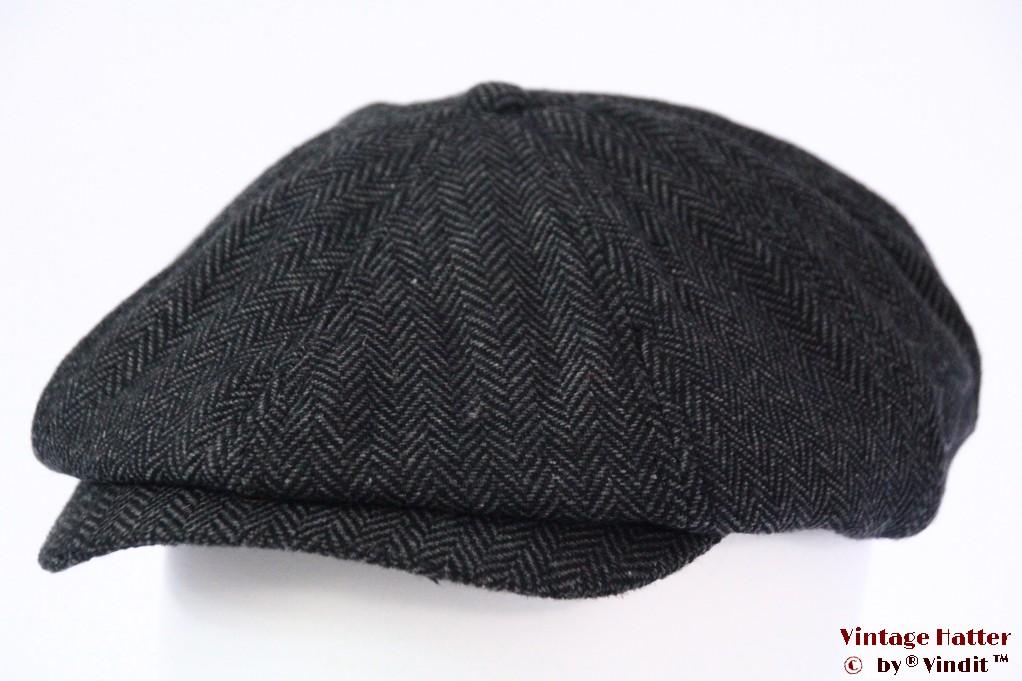 Paperboy cap Dickies Tucson snapcap dark grey herringbone 58 [New Sample]