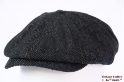 Paperboy cap Dickies Tucson snapcap dark grey herringbone 58 [New Sample]