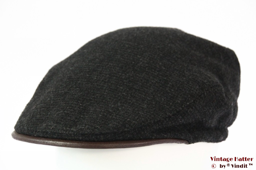 Flatcap dark grey padded lining 59