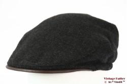 Flatcap dark grey padded lining 59