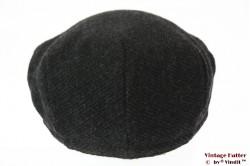 Platte pet donker grijs met gewatteerde voering 59