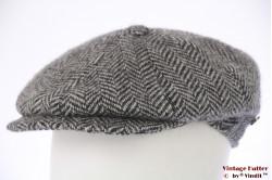 Paperboy cap Lierys grey herringbone wool 55-56 (S)