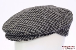 Flatcap Extracap grey houndstooth tweed 58