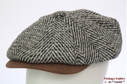 Paperboy cap Hawkins grey countrystyle tweed 61 [new]