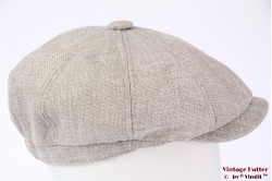 Paperboy cap light grey polyester 58-61 (XL) [new]