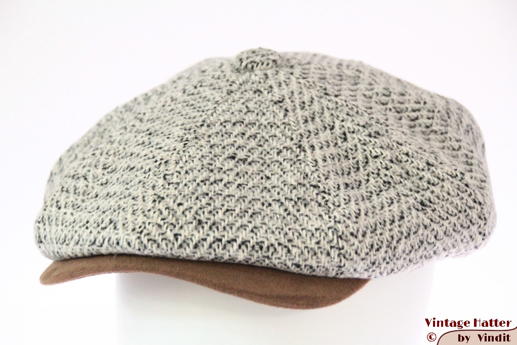 Paperboy cap Hawkins white-grey countrystyle tweed 61 (XXL) [new]
