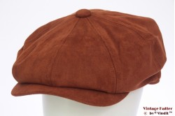 Paperboy cap Hawkins orange brown faux suede 60 [new]