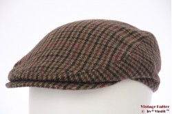 Platte pet bruin tweed wol 56