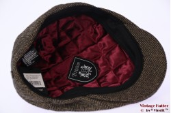 Flatcap Brixton Hooligan snapcap brown herringbone 60 [New Sample]