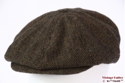 Paperboy snapcap Brixton Brood brown herringbone 60 (L) [New Sample]