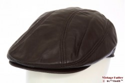 Flatcap redish brown leather 57