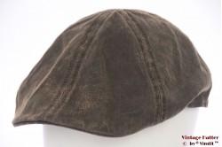 Platte panelenpet Stetson bruin rough look 60 (XL)