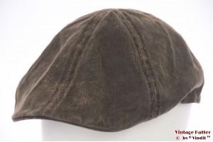 Panel flatcap Stetson brown rough look 60 (XL)