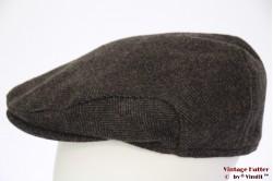 Flatcap TCM brown herringbone with earwarmer 61 (XL)