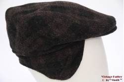 Flatcap BDP black brown wool with earwarmer 58