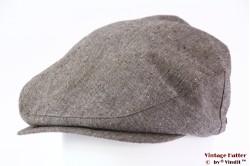 Flatcap Brixton Seth brown snapcap white linnen/cotton 56-61 [New Sample]