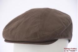 Flatcap faux suede soft brown 60 (XL)
