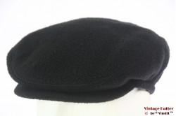 Flatcap Conte of Florence black fleece with earwarmer 55-56