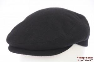 Flatcap Luigi Lamberto black wool 57