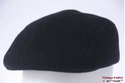 Flatcap black preshaped 58