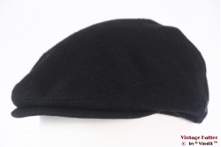 Flatcap Bugatti black wool with earwarmer windstopper 58-59