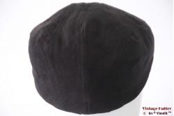 Flatcap Canda black faux suede 59