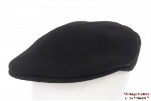 Flatcap Kangol black wool felt 57
