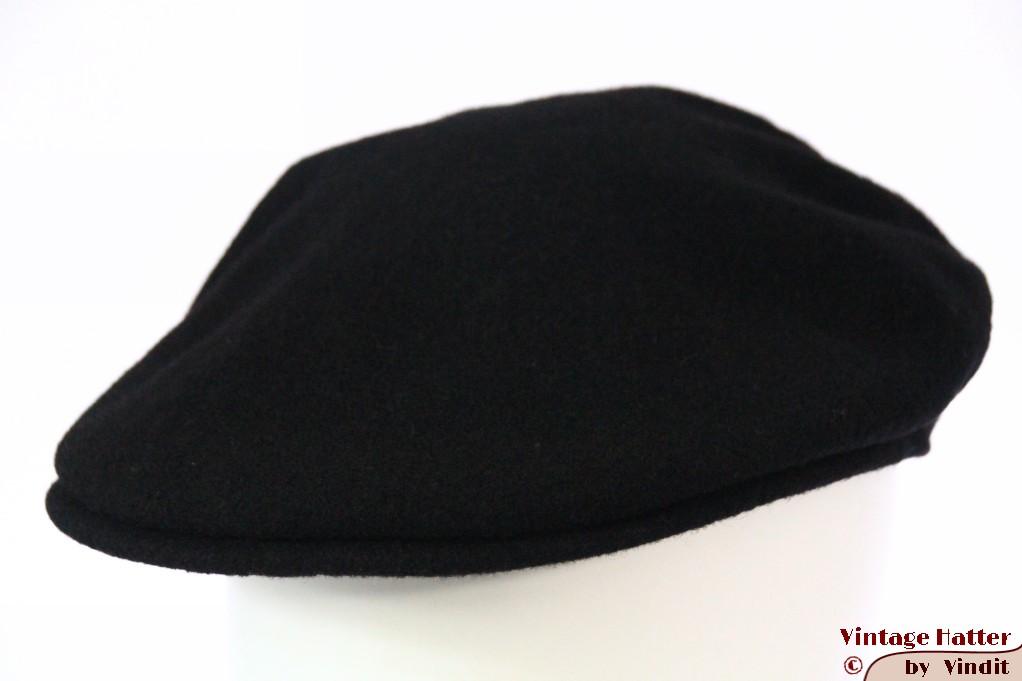Flatcap Kangol black wool 57-59