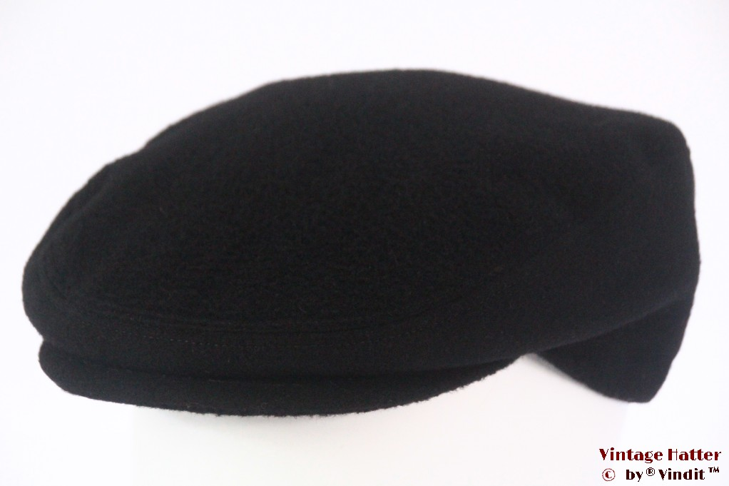 Flatcap Canda black wool 58