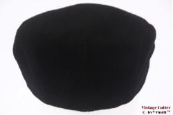 Flatcap Canda black wool 58