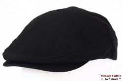 Flatcap Brixton Hooligan snapcap black herringbone 58-59 [New Sample]