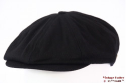 Paperboy snapcap Brixton Brood black cotton 58 (M) [New Sample]