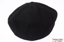 Paperboy snapcap Brixton Brood black cotton 58 (M) [New Sample]