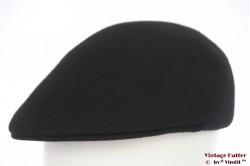 Platte pet Lodenhut zwart vilt 59
