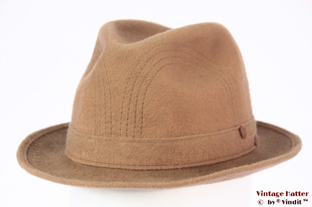 Fedora Stilmar beige brown felt 54,5 (XS)