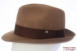Fedora Mayser beige brown felt 56