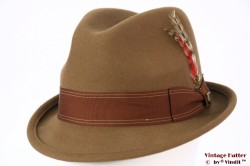 Brixton Gain fedora washed copper (beige brown) 58 (M) [New Sample]