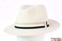 Panama fedora Hawkins ivory white linnen 60 (XL) [new]
