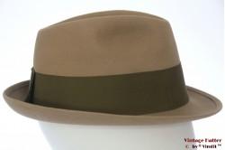 Fedora Wegener beige grey felt 57