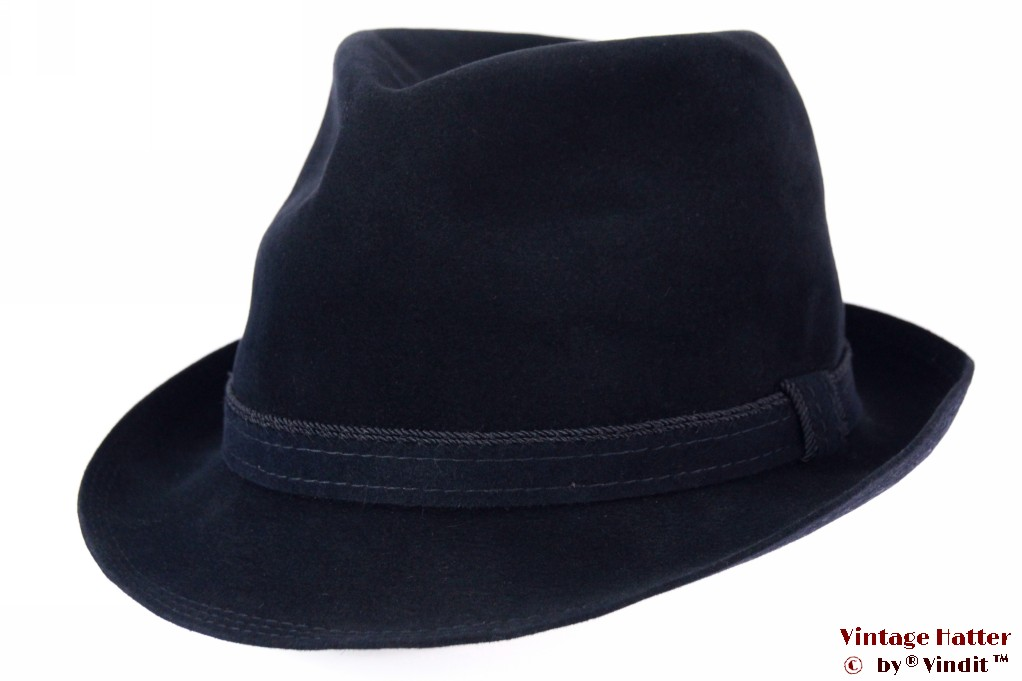 Fedora Mayser dark blue brushed felt 55,5 (S)