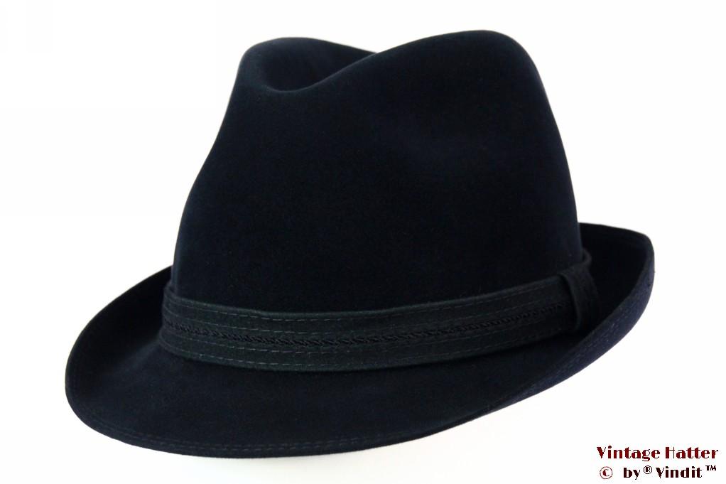 Fedora Mayser dark blue velvet 55 (S)