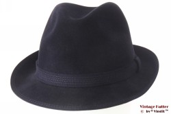 Fedora Wegener dark blue brushed felt 56