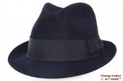 Gleufhoed Dobbs donker blauw vilt 57