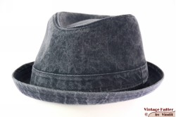 Trilby-like porkpie Hawkins blue denim stonewashed jeans 60 (XL) [new]