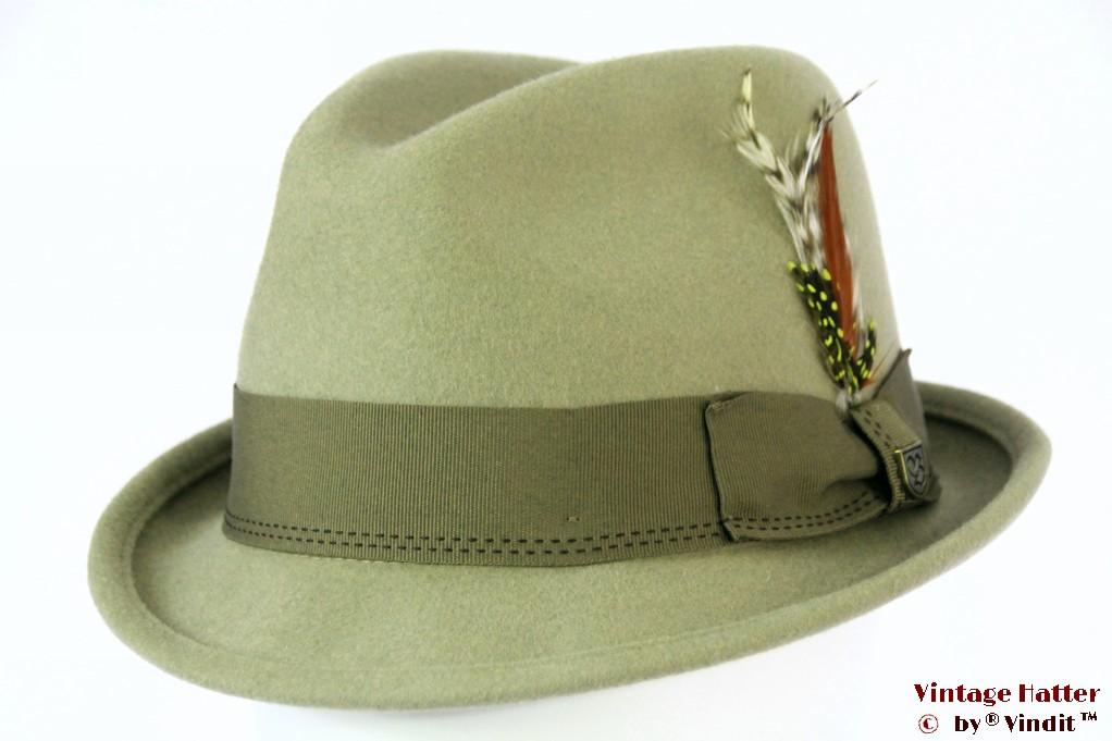 Brixton Gain fedora khaki (soft green) 58 (M) [New Sample]