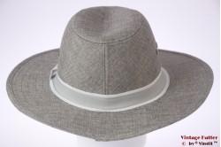 Panama-style wide fedora Hawkins grey 58 [new]
