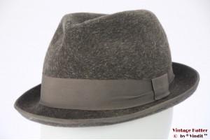 Fedora Haarfilz grey fur felt 56