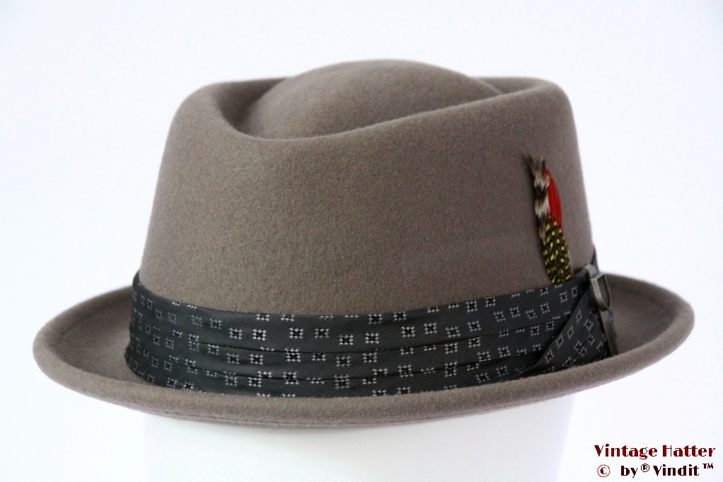 Brixton Stout Porkpie grey felt 58 (M) [New Sample]